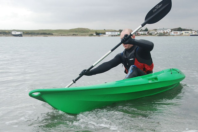 Tez Plavenieks testing FatYak's Kaafu sit on top kayak