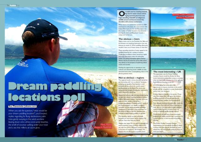 Dream paddling locations