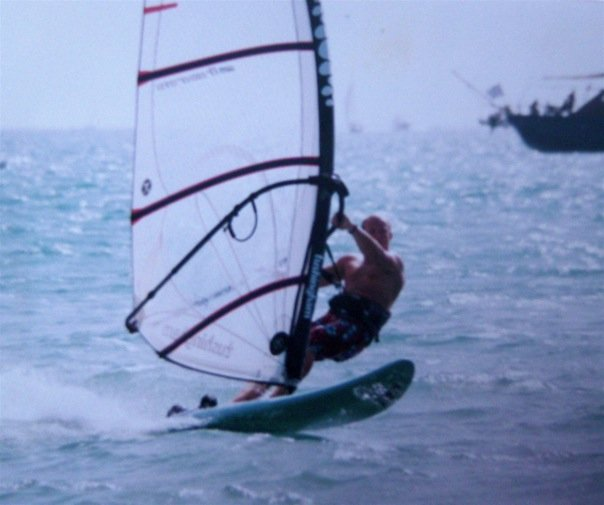 Early days of windsurfing