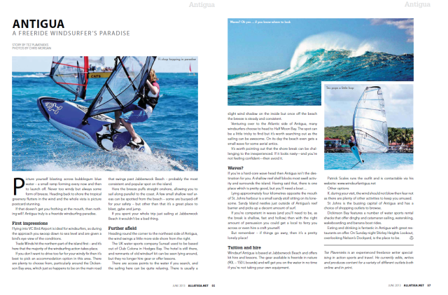 All At Sea - Caribbean Antigua windsurfing