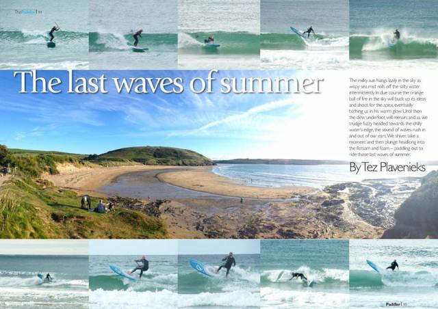 Last waves of summer - SUP article in The Paddler