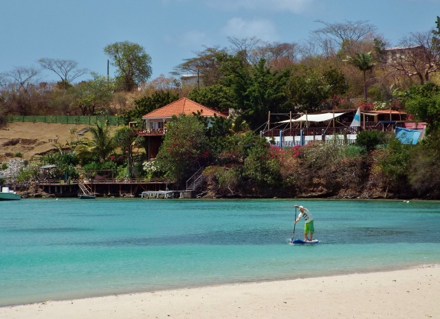 Tez SUP at Morne Rouge, Grenada