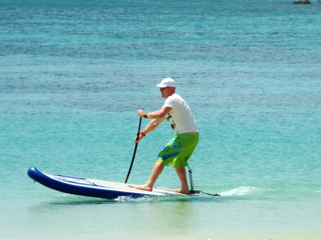 Stand up paddling at Morne Rouge