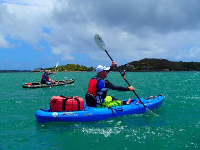 Tez kayaking in Grenada
