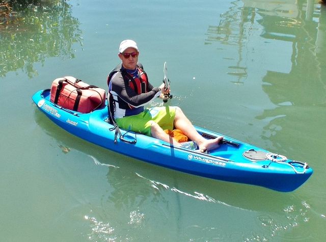Tez paddling in Grenada