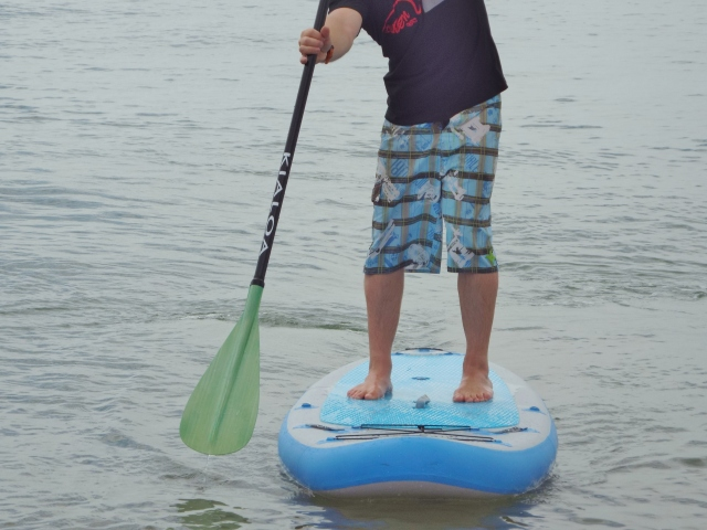 Kialoa paddle and Exocet inflatable stand up paddle board