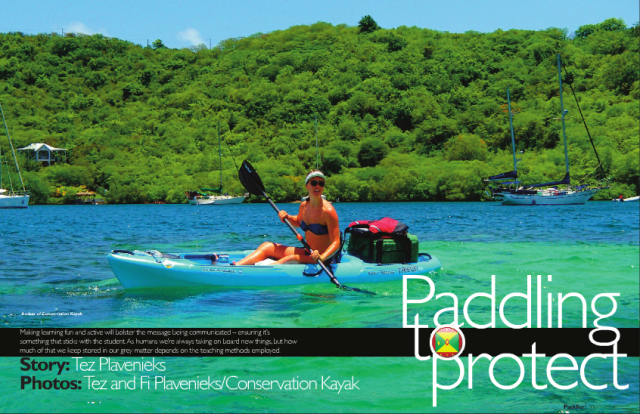 Paddle to Protect Tez Plavenieks