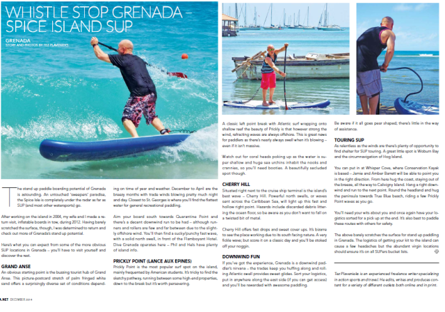 Grenada stand up paddle boarding spots