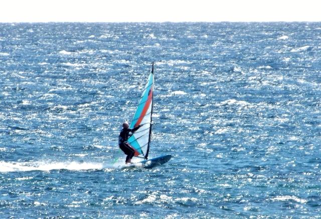Tez Plavenieks Goy Windsurfing kit testing Costa Teguise