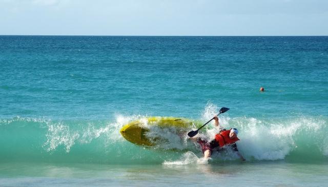 Grenada kayak shore dump stack Tez Plavenieks