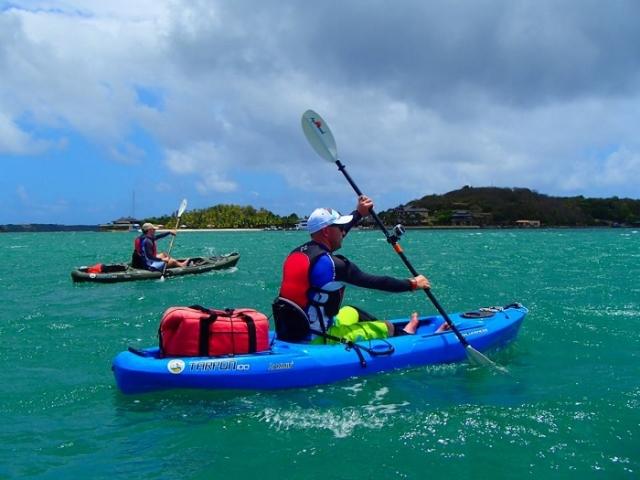 Tez kayaking Grenada, Caribbean